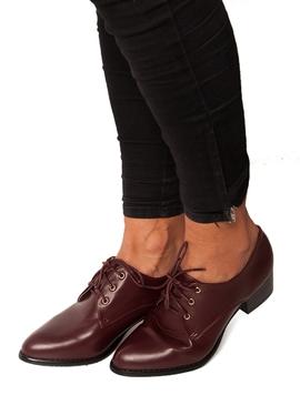 Pantofi Dama Cu Siret Grena