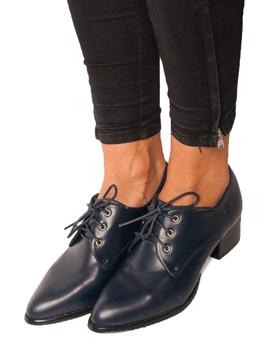Pantofi Dama Cu Siret Bleumarin