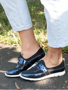 Pantofi Sport Dama Luciosi Bleumarin