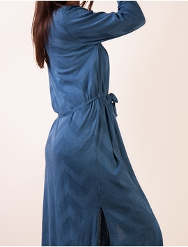 Cardigan Dama Cu Cordon Albastru Inchis