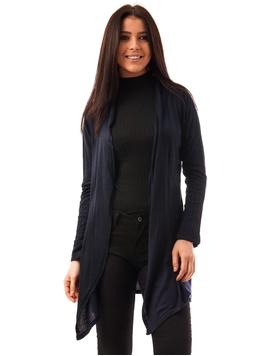 Cardigan Dama Simplu In Colturi Bleumarin