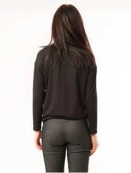 Bluza Dama Cu Flori Neagra