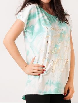 Bluza Dama Cu Imprimeu Metalic Si Paiete Verde Menta