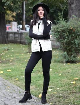 Vesta Dama Cu Blanita Si Cordon Alba