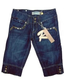 Pantalon din blug pana la genunchi