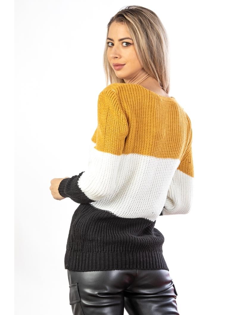 Pulover Dama Enola Mustar