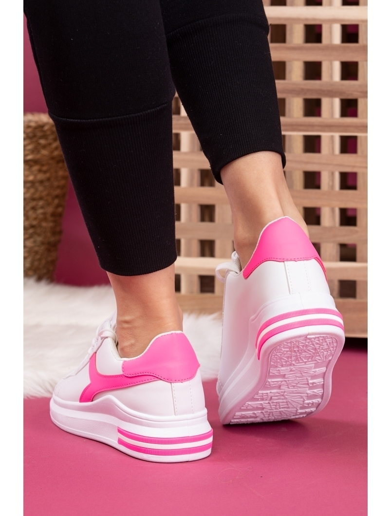 Adidasi Dama SportStar One Alb si Fucsia