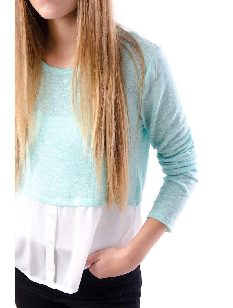Bluza Dama Cu Baza Stil Camasa Vernil