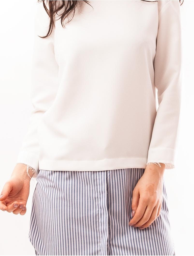 Bluza Lunga Stil Rochie Alba