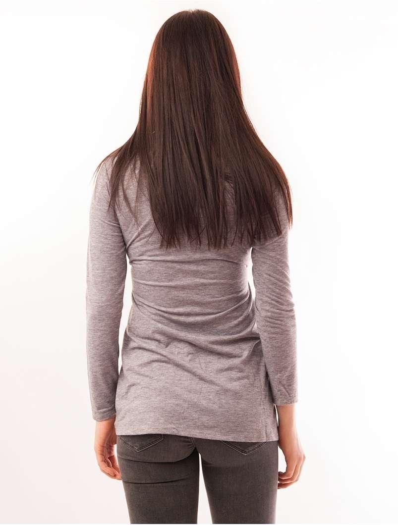Bluza Dama Cu Model Animal Print Buttons Gri