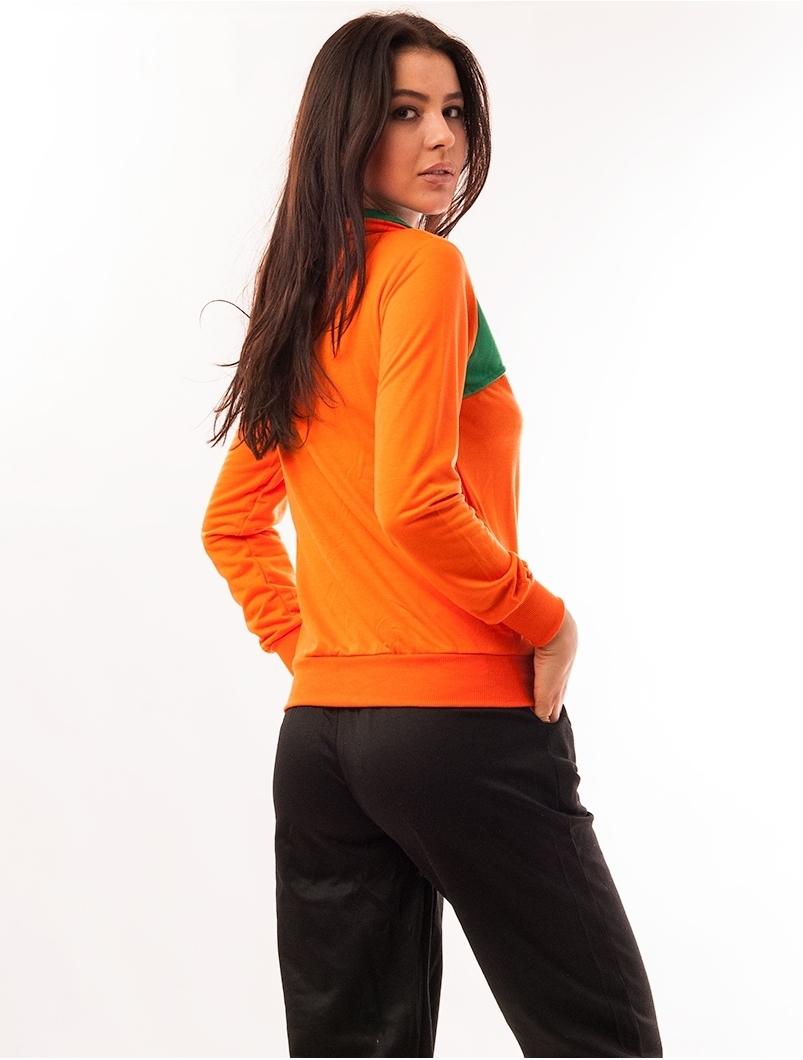 Bluza Dama Sport Cu Fermoar Activity Portocalie