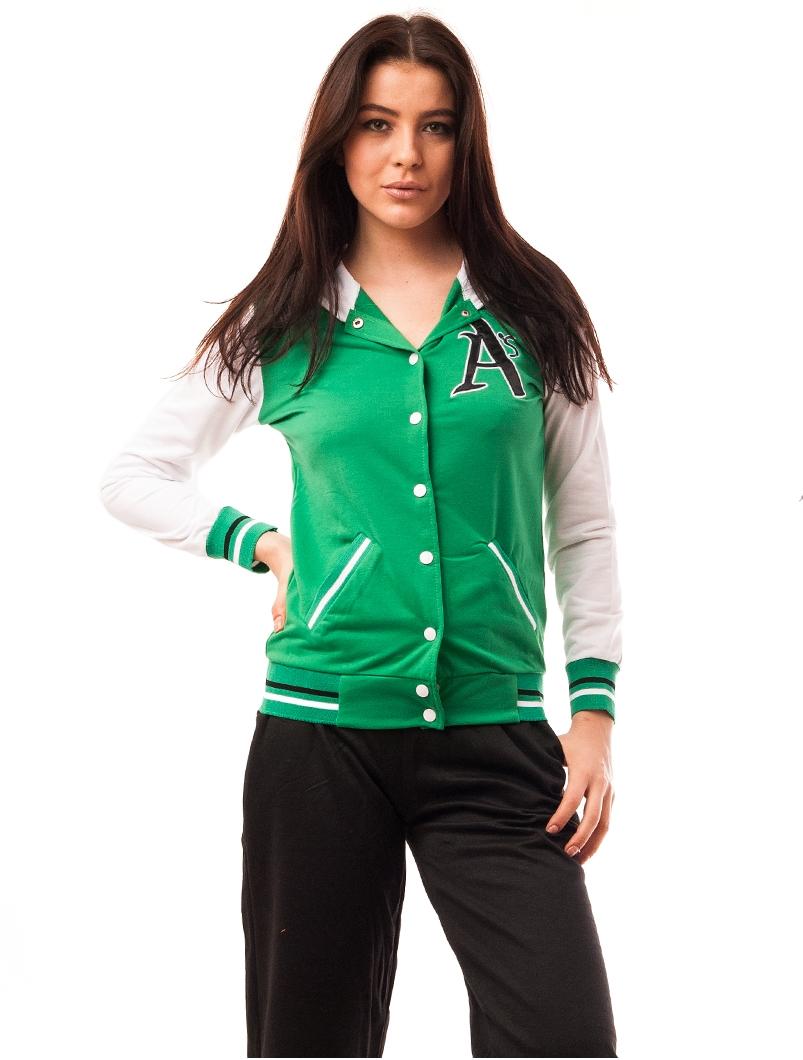 Bluza Dama Sport Cu Capse Amsterdam Verde