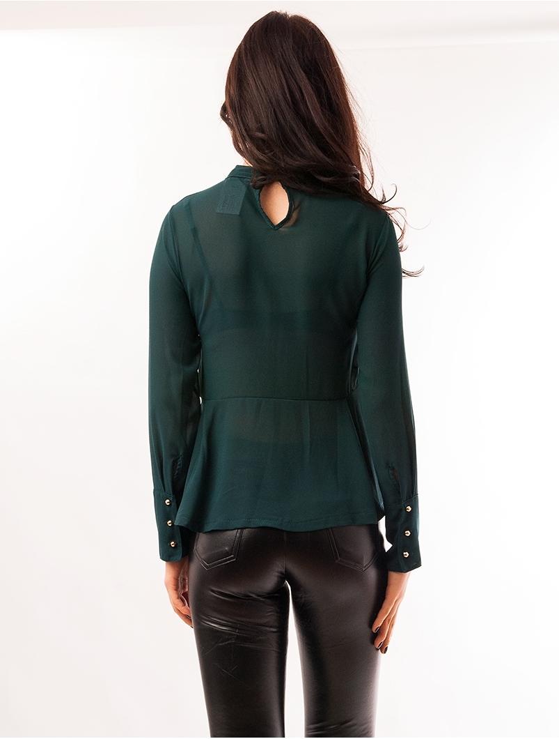 Bluza Dama Din Voal Cu Dantela Delicate Verde