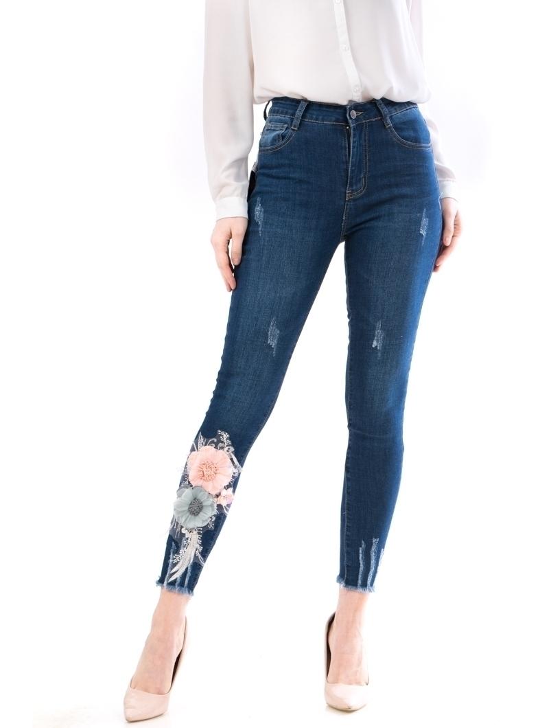 Jeans Dama Ptzx190 Bleumarin