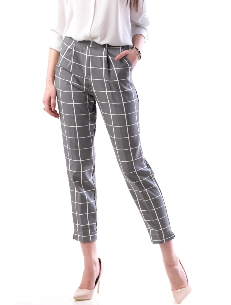 Pantaloni Dama ElstycD12 Gri