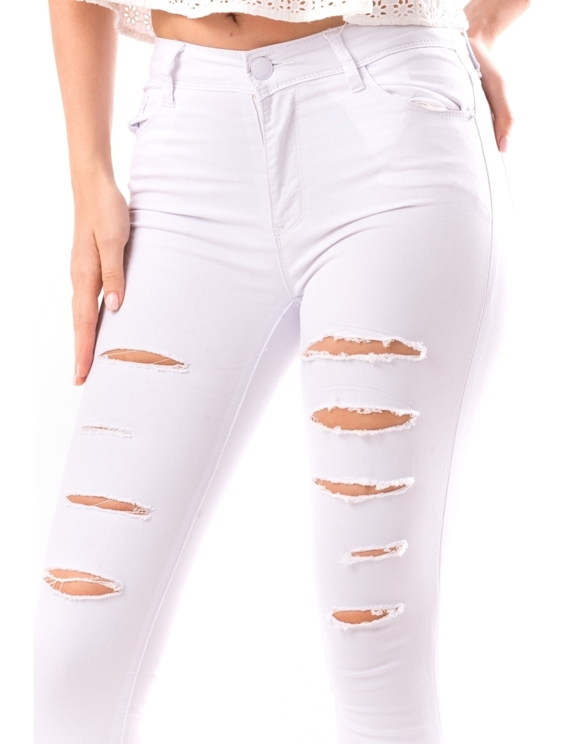 Jeans Dama Syty17 Alb