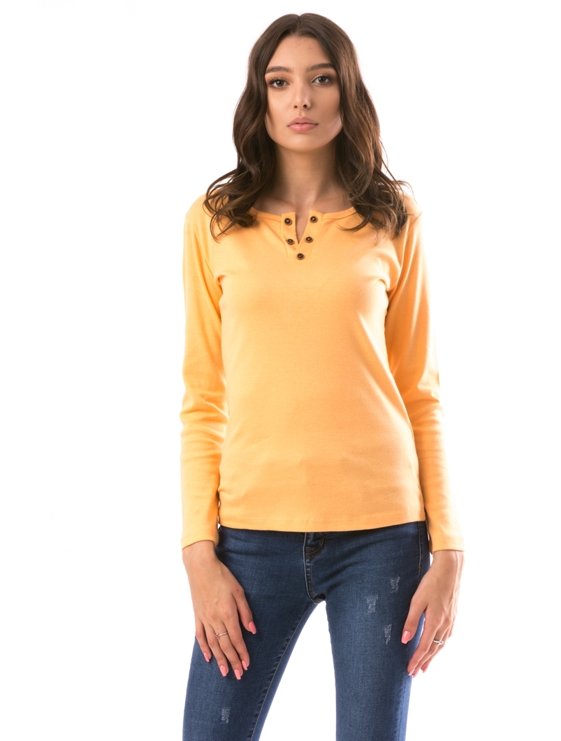 Bluza Dama V-Simple Portocaliu