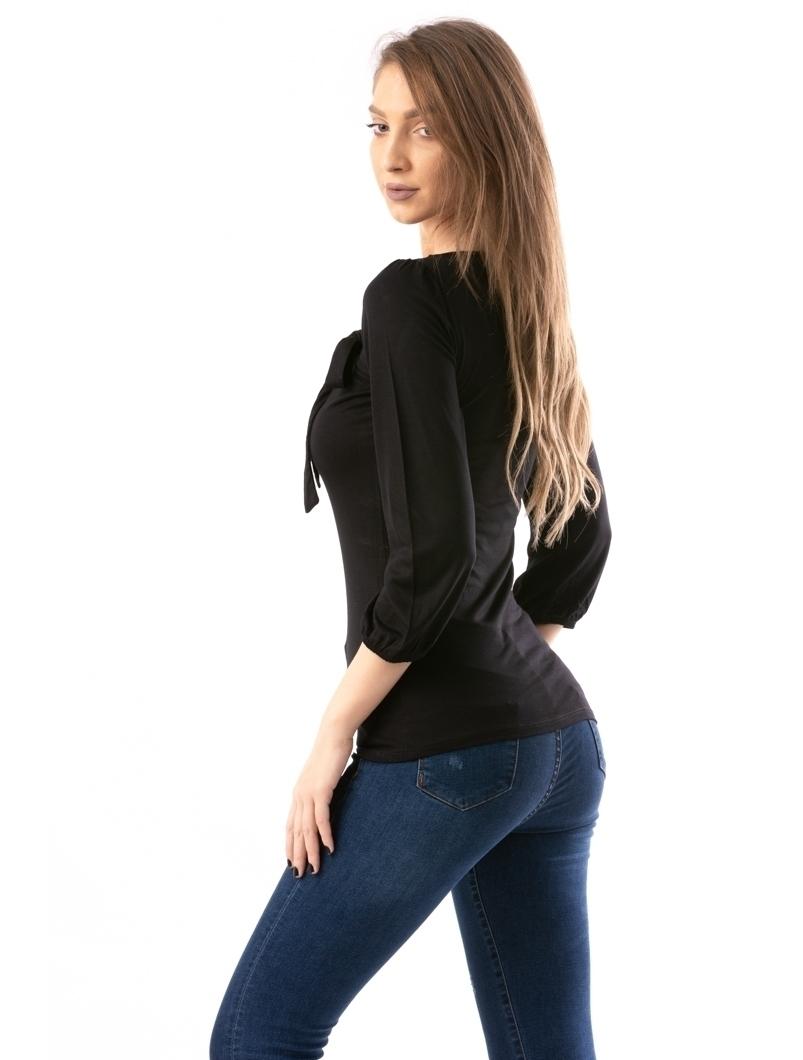 Bluza Dama SimpleLeftBow Negru