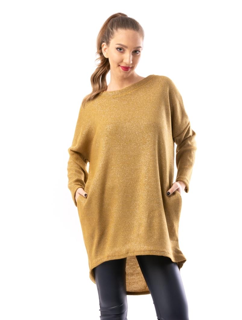 Rochie Dama LikeSweater Mustar