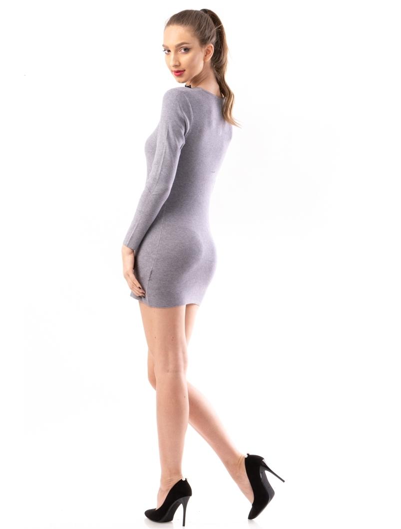 Rochie Dama ShortStones Gri