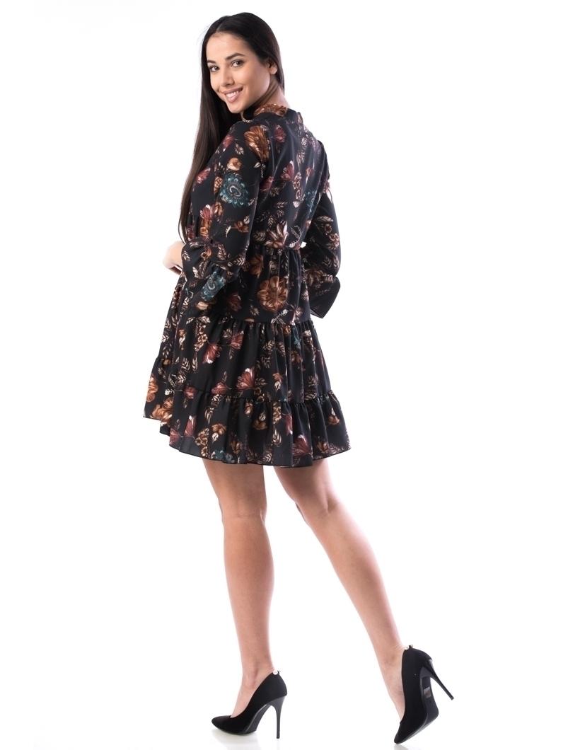 Rochie Dama FlowersRy12 Negru