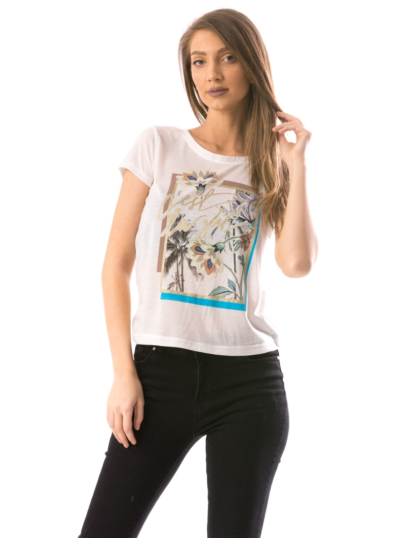 Tricou Dama CelliVie Alb