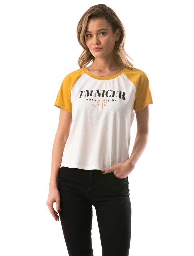 Tricou Dama ImNicer Alb