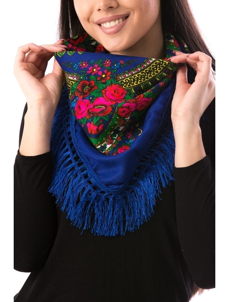 Esarfa Dama TraditionalWear12 Albastru