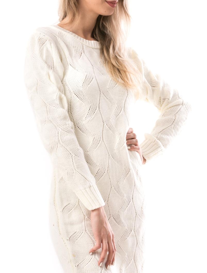 Rochie Dama KnittedSnake Alb