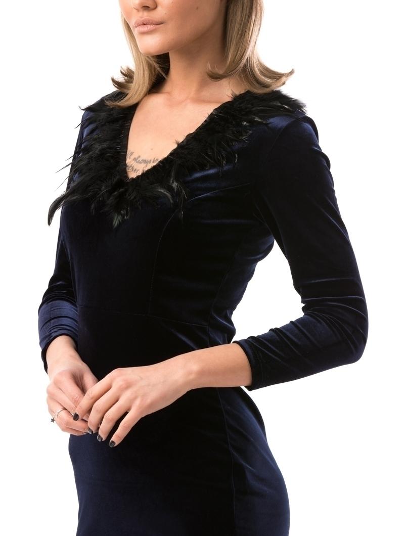 Rochie Dama VelvetFeather Bleumarin