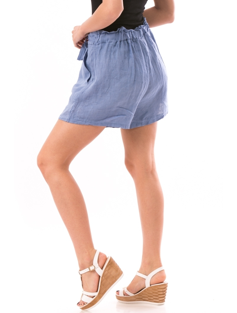 Pantaloni Dama LinenShort Bleu