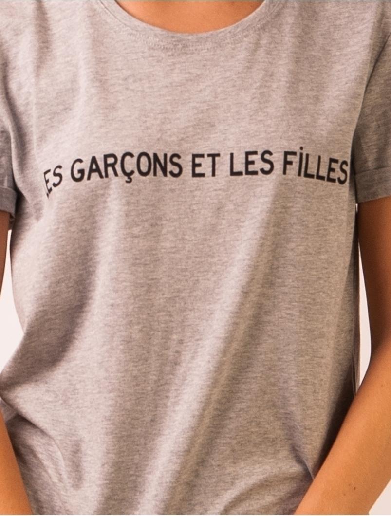 Tricou Dama LesGarcons Gri