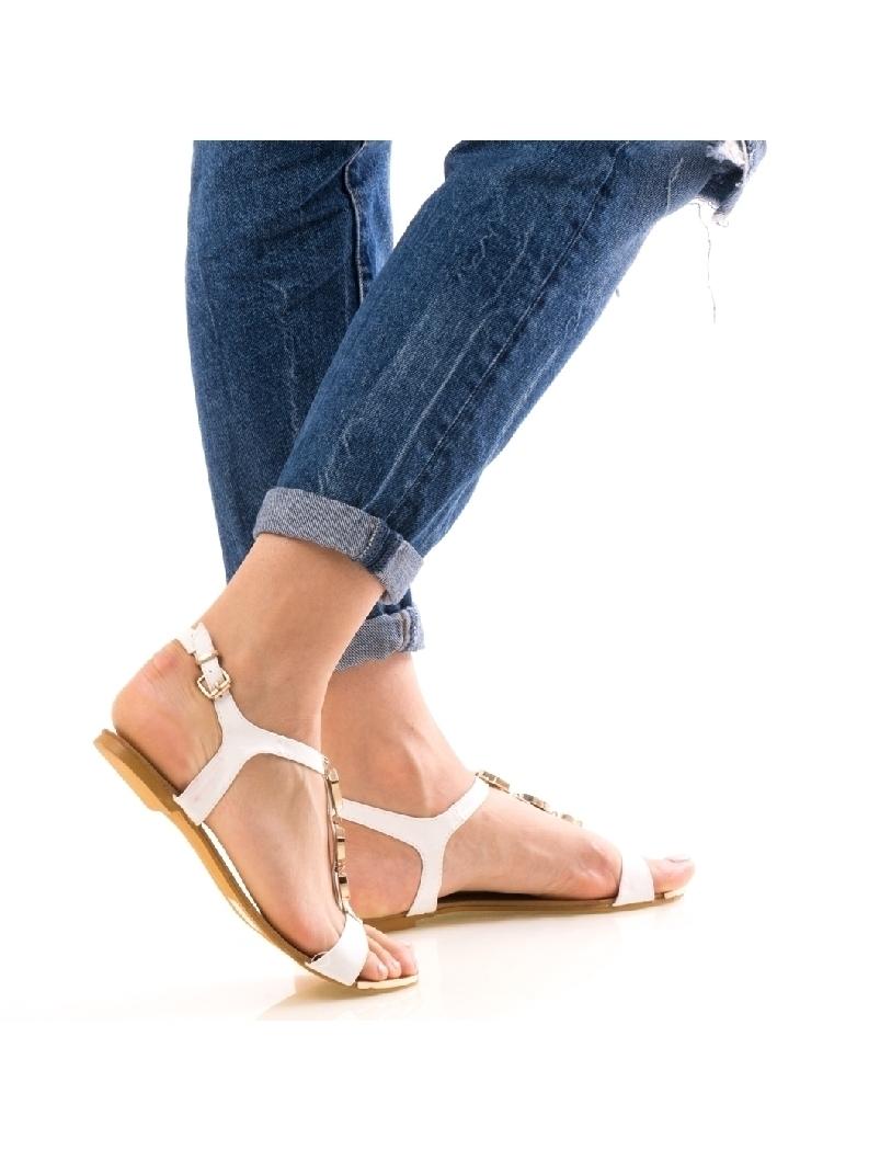 Sandale Dama FrontDiamond Alb