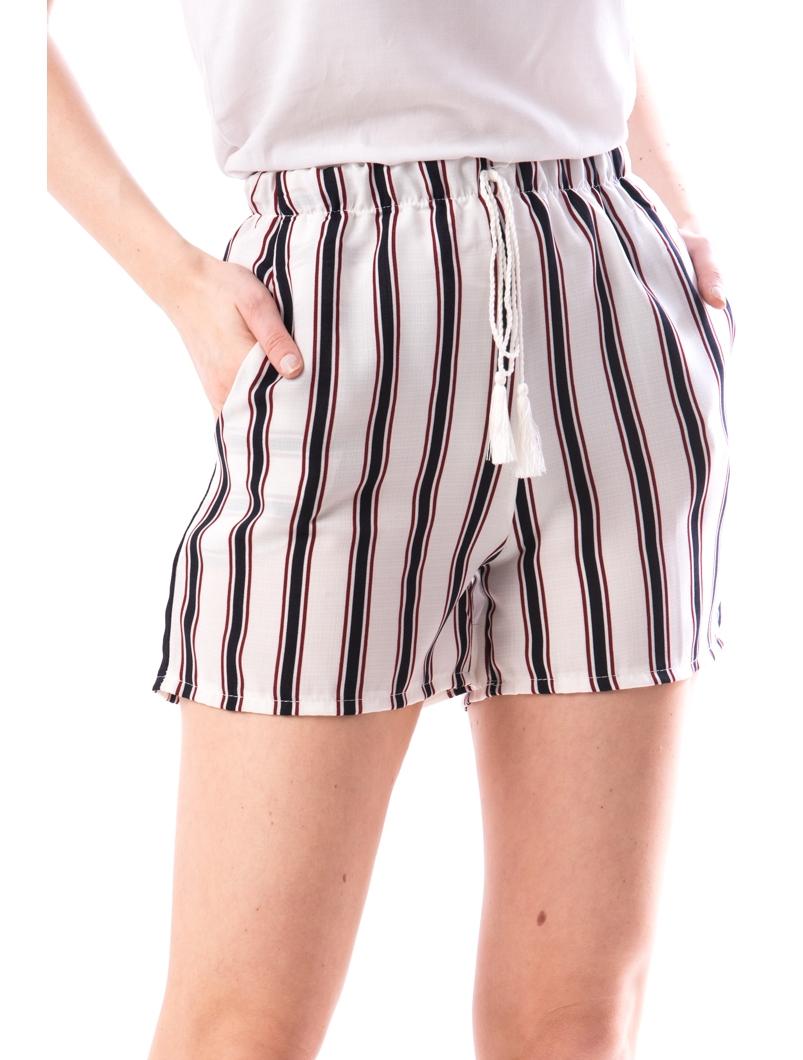 Pantaloni Scurti Dama BzLty208 Alb