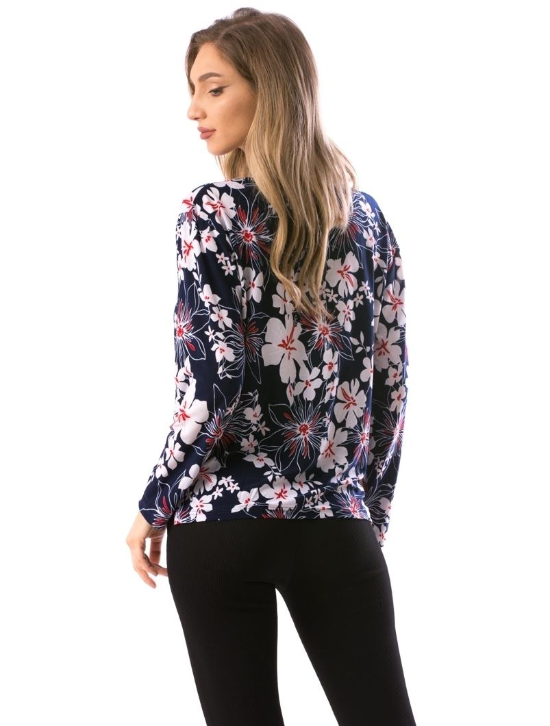 Bluza Dama CarryFlower18 Alb Si Bleumarin
