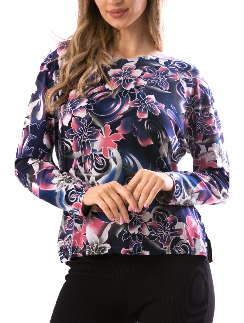 Bluza Dama CarryFlowers30 Bleumarin Si Grena