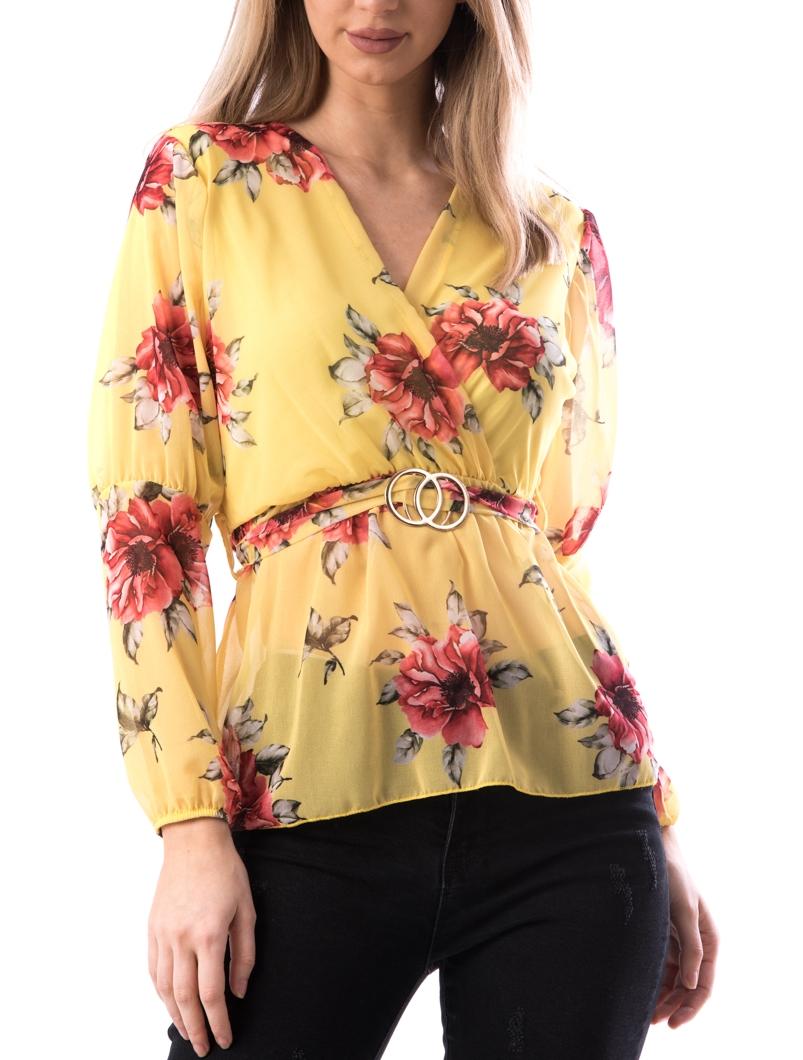 Bluza Dama MidJk122 Galben