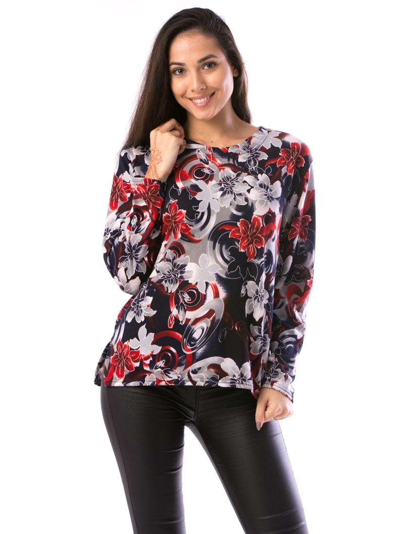 Bluza Dama CollarSimple44 Rosu