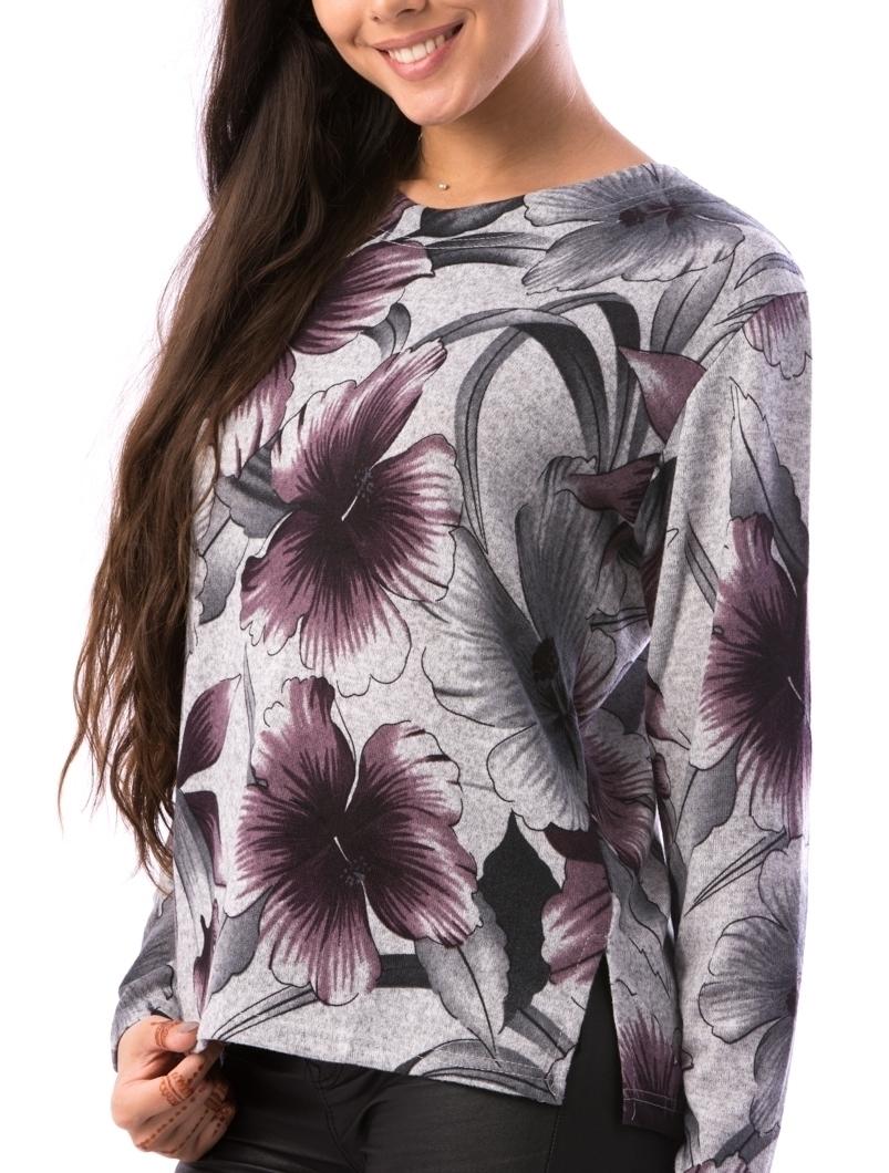 Bluza Dama CollarCrew92 Gri