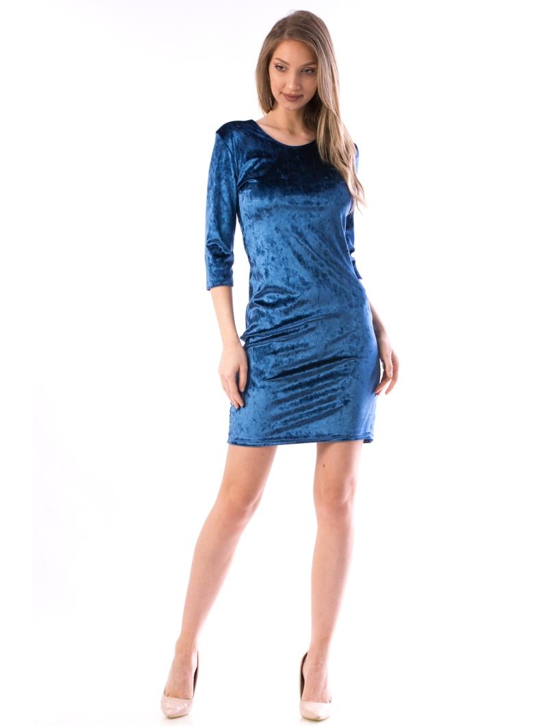 Rochie Dama Luxy56 Albastru