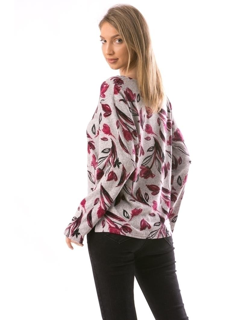 Bluza Dama CollarOneLace12 Gri