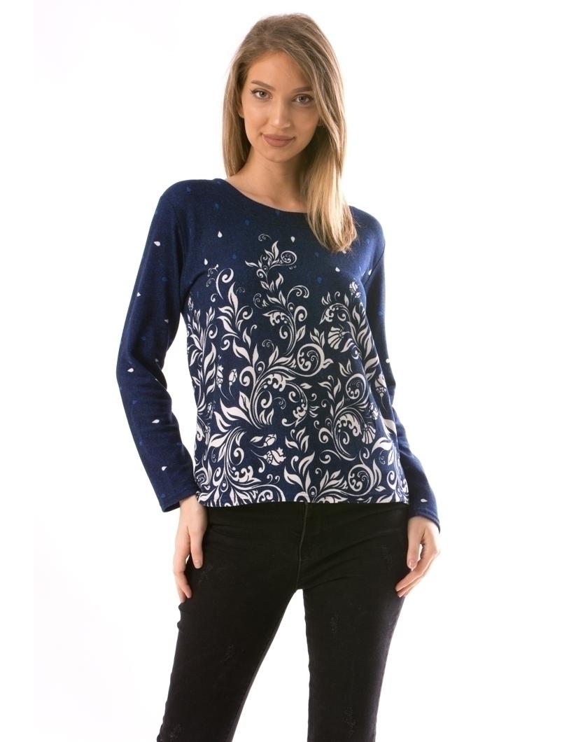 Bluza Dama CollarSimple21 Bleumarin