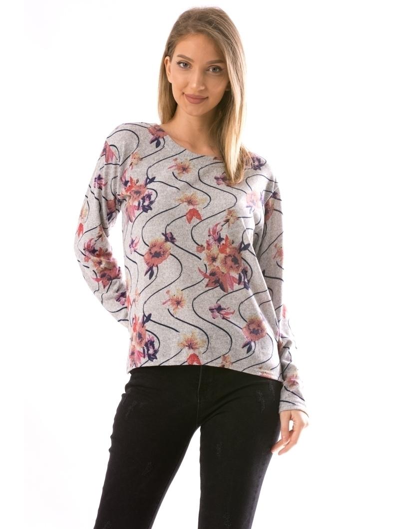 Bluza Dama CollarSimple22 Gri