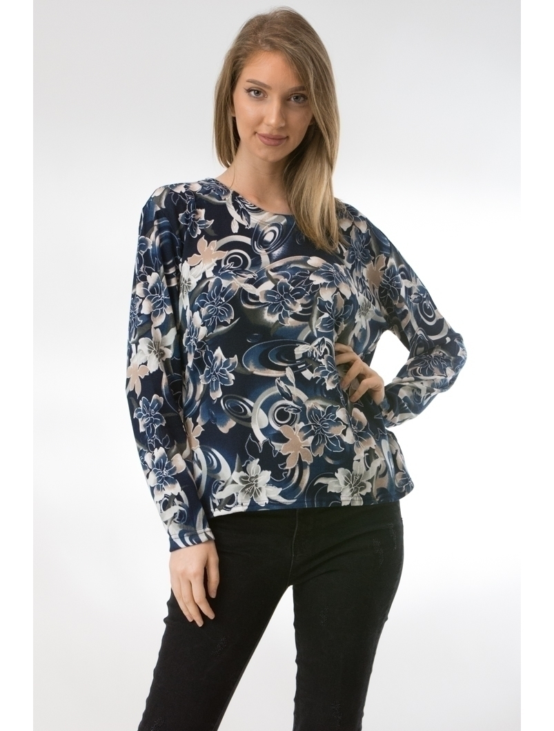 Bluza Dama CollarSimple44 Bleumarin