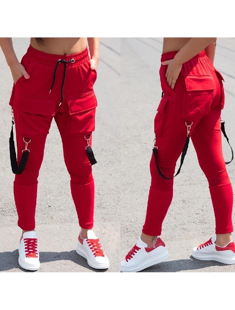 Pantaloni Dama FeetThing19 Rosu