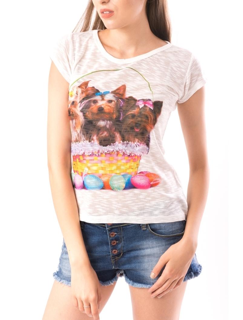 Bluza Dama SweetOrganic Dogs Alb