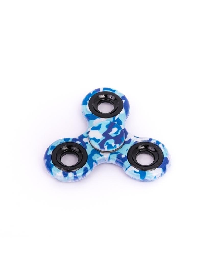 Fidget Spinner Camo Cu Capse Albastru