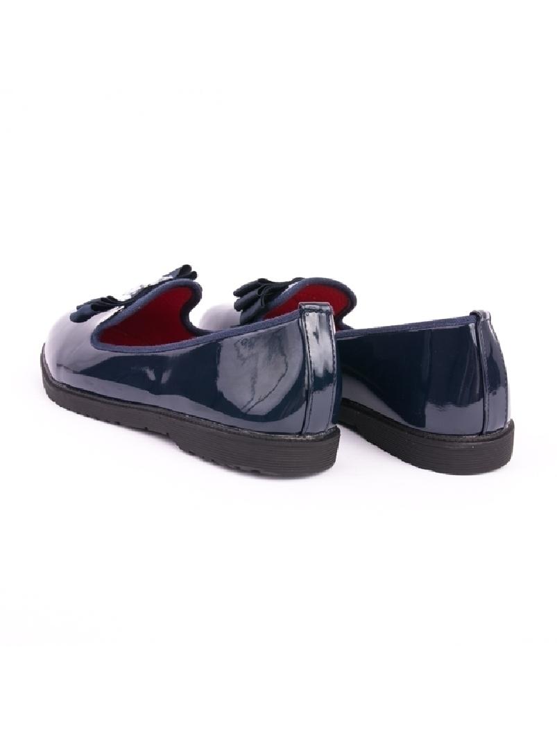 Pantofi Dama De Lac Cu Pietricele Pebbles Bleumarin