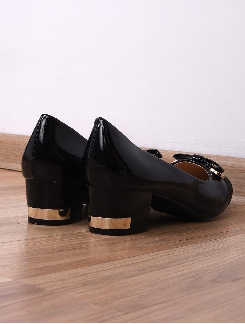 Pantofi Dama Casual Cu Toc Mic Special Negri