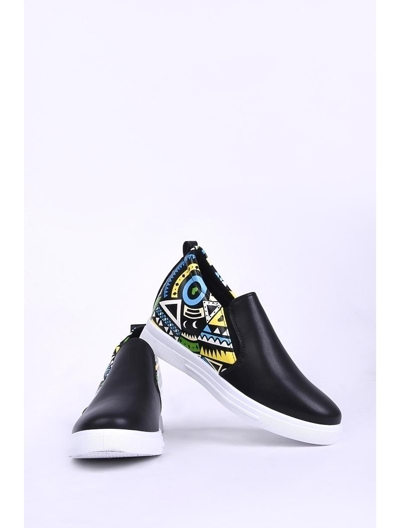 Pantofi Dama Casual Cu Elastic Lateral Mission Negri